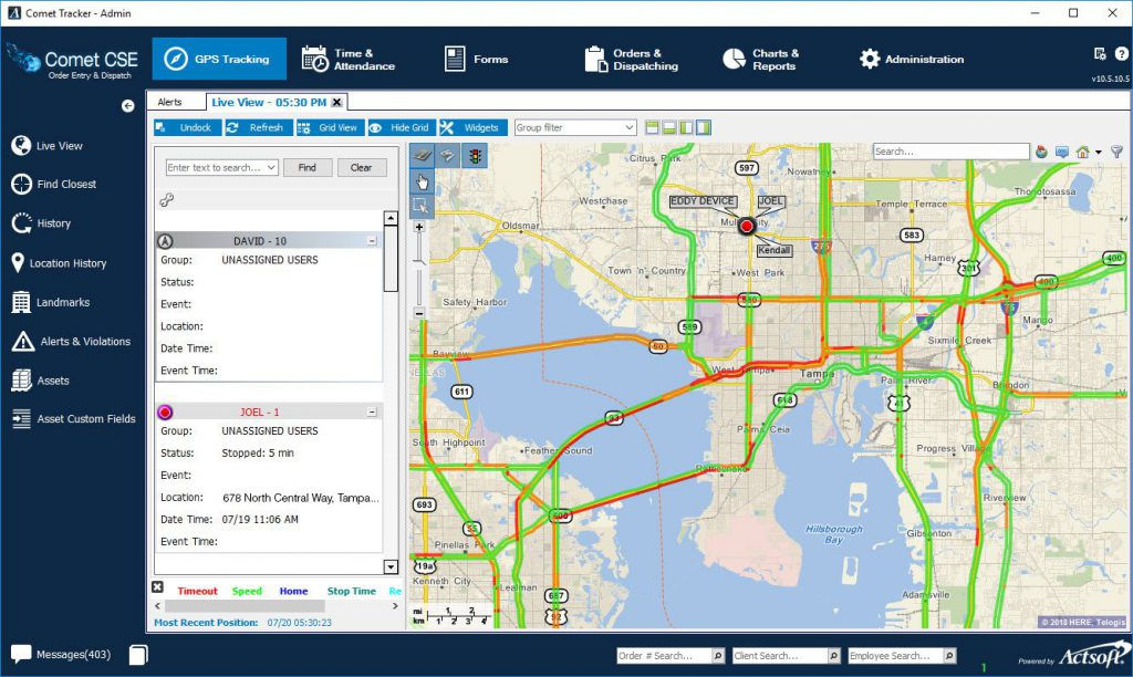 Comet Suite - Actsoft, The GPS Fleet Tracking & MRM Leader